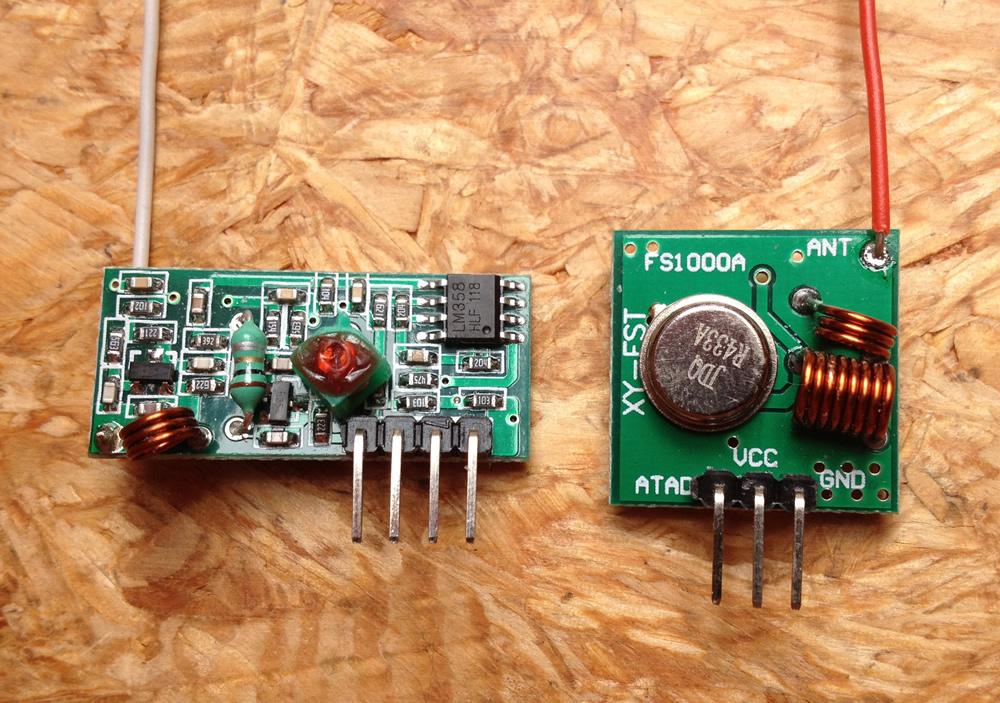 433 MHz Empfaenger und Sender