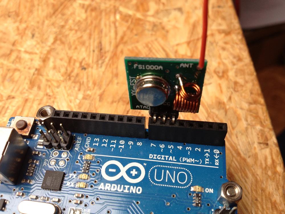 433 MHz Sender auf dem Arduini Uno