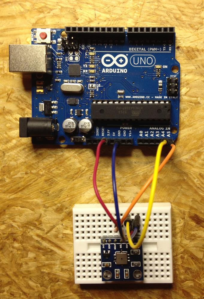 BMP085 Sensor am Arduino