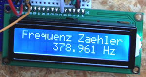 Frequenzzaehler mit LCD Display