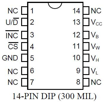 DS1666 Pinbelegung