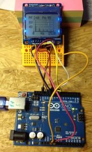 Arduino Uno FFT Ausgabe